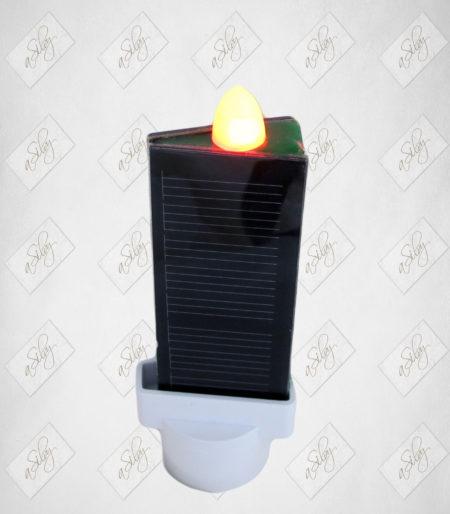 Cero/Lumino perenne ad energia solare Durata illimitata Da inserire in fiammele per loculo