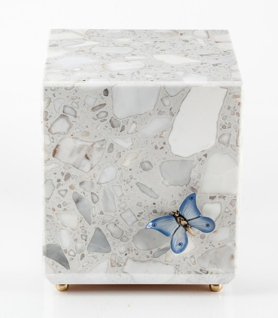 Urna cineraria Jennifer in bianco Carrara