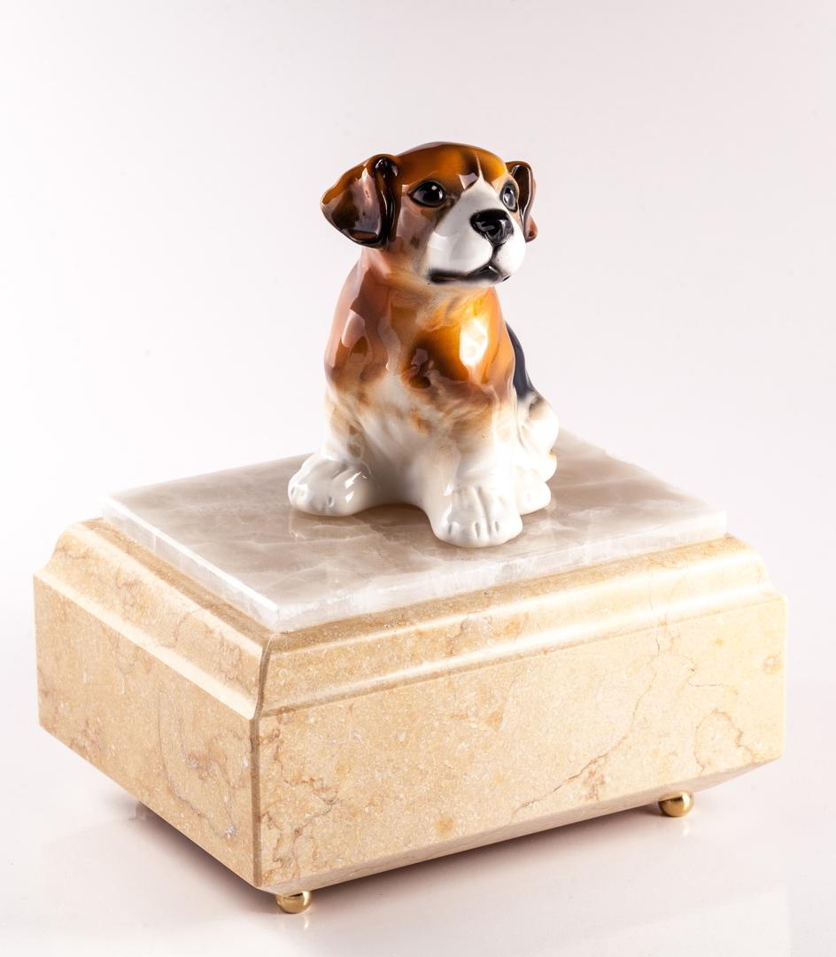 Urna per animali Buddy in marmo Silvia Oro