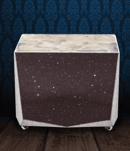 Urna cineraria in Marmo Starlight prugna e pregiata Onice Bianca