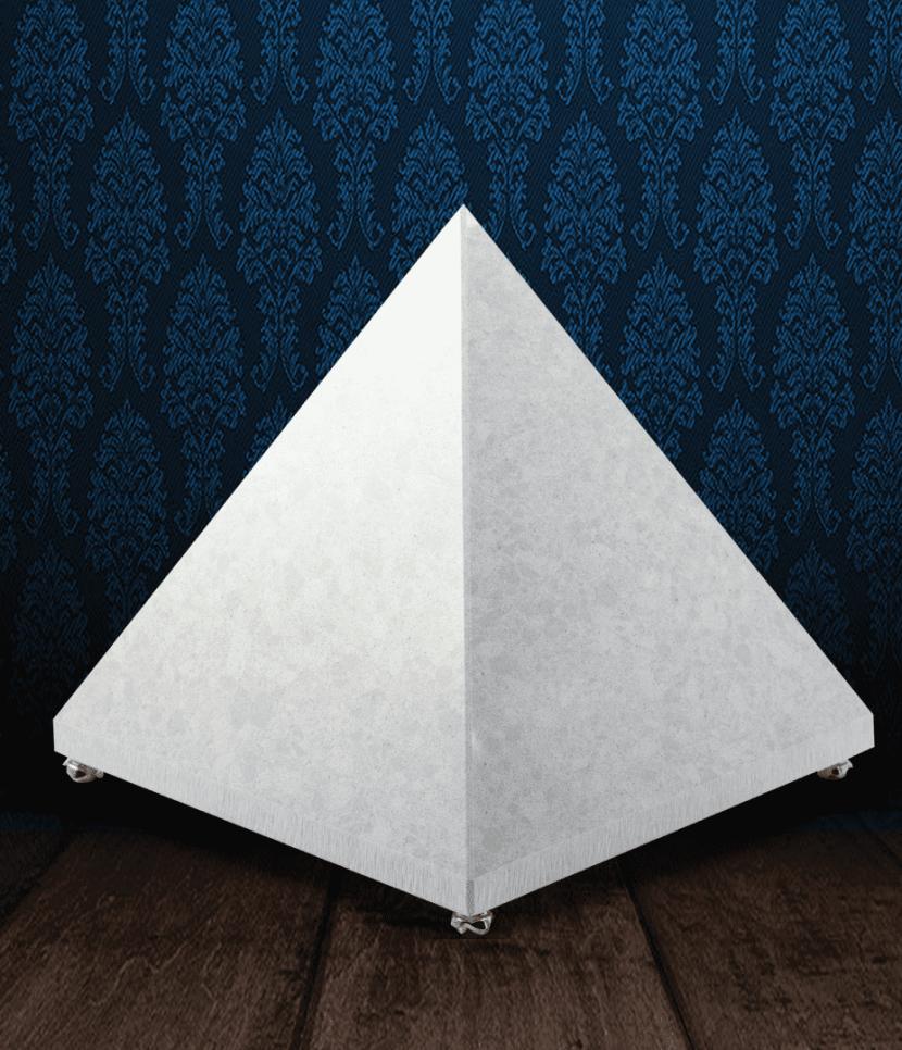 Urna cineraria piramidale in pregiato Marmo di Carrara