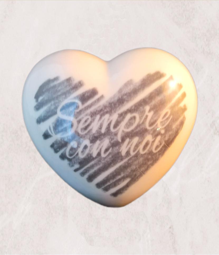 cuore in ceramica personalizzabile grande