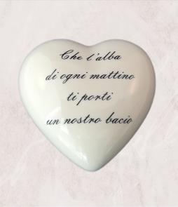 Cuore in ceramica personalizzabile